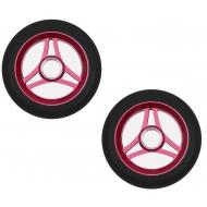 110MM Aztek Trilogy Wheels Pair Black - Red Core
