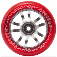 115MM AO Quadrum Pro Scooter Wheel (Transparent Red)