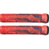 Lucky Vice 2.0 Pro Scooter Grips (Red/Blue Swirl)